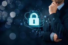 Cybersecurity internet concept stock image