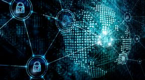Free Cybersecurity On Global Network, Information Technology Security Services On Internet Royalty Free Stock Images - 154742479