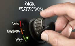 Cybersecurity, Personal Data Protection Strategy royalty free illustration