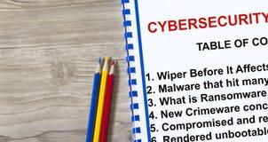 Cybersecurity ransomware och torkare Royaltyfri Fotografi