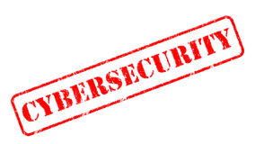 CYBERSECURITY  rubber stamp over a white background Stock Photos