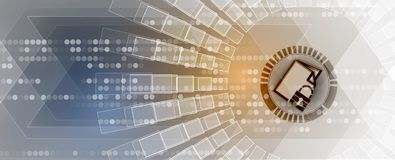 Cybersecurity und Informations- oder Netzschutz Zukünftige Technologie Lizenzfreie Stockfotos