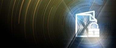 Cybersecurity und Informations- oder Netzschutz Zukünftige Technologie Stockbilder