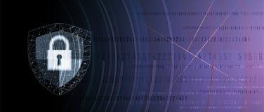 Cybersecurity und Informations- oder Netzschutz Zukünftige Technologie Lizenzfreie Stockbilder