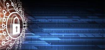 Cybersecurity und Informations- oder Netzschutz Zukünftige Technologie Lizenzfreie Stockfotografie