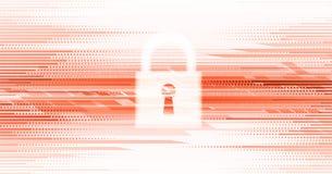Cybersecurity und Informations- oder Netzschutz Zukünftige Technologie Stockfoto