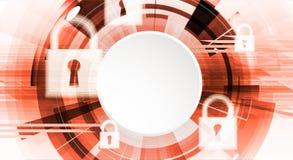 Cybersecurity und Informations- oder Netzschutz Zukünftige Technologie Stockfotos