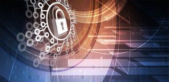 Cybersecurity und Informations- oder Netzschutz Zukünftige Technologie Lizenzfreies Stockfoto