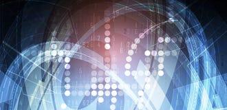 Cybersecurity und Informations- oder Netzschutz Zukünftige Technologie Stockfotografie