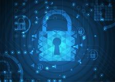 Cybersecurity y protección de la información o de la red Tecnología futura Imagen de archivo