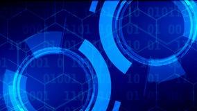 Cybersecurity y protección de la información o de la red Tecnología futura almacen de metraje de vídeo