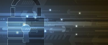 Cybersecurity y protección de la información o de la red Tecnología futura Fotografía de archivo