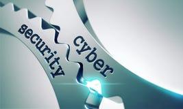 Cybersäkerhet på kugghjulen Arkivfoto