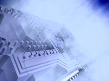Cyberspace. Blue abstract macro electronic chip royalty free illustration