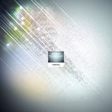 Cyberspace, abstract science or technology vector background Stock Photography