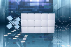 Cyberspace data Royalty Free Stock Image