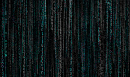 Cyberspace with digital lines, binary hanging chain. Abstract background with gray - blue digital lines stock image