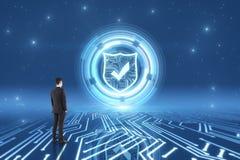 Cyberspace e conceito da segurança ilustração stock