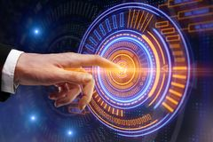 Cyberspace e conceito da tecnologia imagem de stock