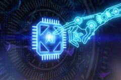 Cyberspace e conceito da tecnologia ilustração royalty free