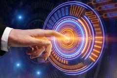 Cyberspace en technologieconcept stock afbeelding