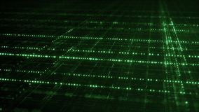 Cyberspace with green multilayered grid Stock Image