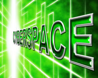 Cyberspace Internet Means World Wide Web And Digital Stock Photography