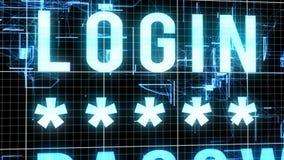 Cyberspace Login Bevelillustratie Stock Afbeeldingen
