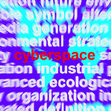 Cyberspace On Map Showing Internet And Www Technology Royalty Free Stock Photography