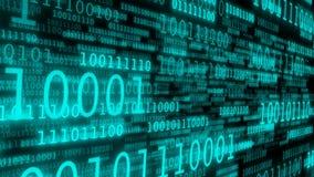 Cyberspace med binär kod vektor illustrationer