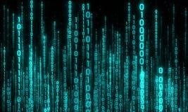 Cyberspace med den digitala resningen, digital stad Arkivbilder