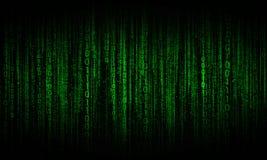 Cyberspace med digitala linjer, binär hängande kedja Royaltyfria Foton