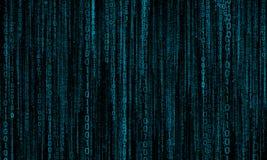 Cyberspace med digitala linjer, binär hängande kedja royaltyfri foto