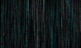 Cyberspace med digitala linjer, binär hängande kedja Fotografering för Bildbyråer