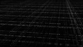 Cyberspace met blauw multi gelaagd net stock illustratie