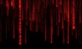 Cyberspace met dalende digitale lijnen Royalty-vrije Stock Fotografie