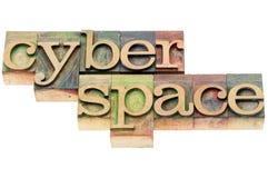 Cyberspace no tipo de madeira fotos de stock royalty free