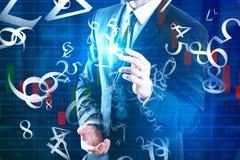 Cyberspace- och finansbegrepp arkivfoto