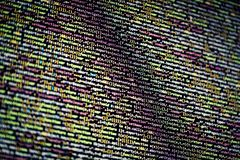 Cyberspace - open program source code concept royalty free stock images