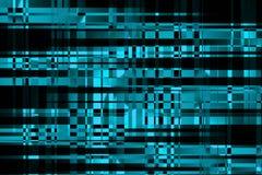 Cyberspace und Computernetzwerke Benutzercomputerschnittstelle Große proceccing Daten Moderne abstrakte Störschubillustration lizenzfreie abbildung