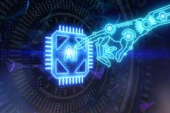 Cyberspace und Technologiekonzept lizenzfreie abbildung