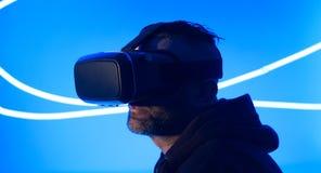 Cyberspace VR da realidade virtual fotos de stock