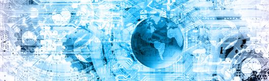 Cyberspacebakgrund Royaltyfri Bild
