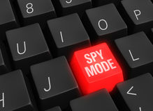 Cyberspionfunktionsläge på Arkivfoto