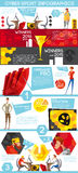Cybersport Games Industry Flat Infographic Poster Royalty Free Stock Photo