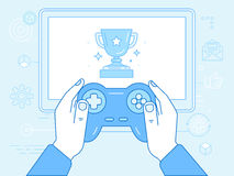 Cybersport and gaming online concept Royalty Free Stock Images
