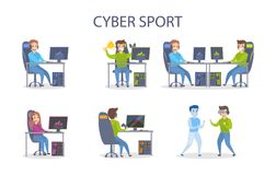 Cybersport speelreeks vector illustratie