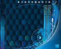 CyberTech. High-Technology internet background, vector layered Royalty Free Stock Image