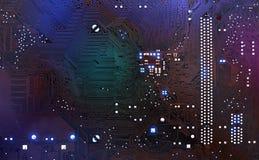 Cyberteknologi och digitalt av framtida bakgrund arkivfoton