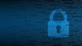 Cyberteknologisäkerhet, lås på den digitala skärmen Arkivfoton